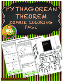 Pythagorean Theorem - Zombie Coloring Page