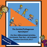 Pythagorean Theorem Converse Zombies 8.G.6 and 8.G.7 Assessments Differentiation
