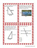Pythagorean Theorem and Angles Review Bingo
