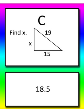 Pythagorean Theorem and Converse Common Core 8th grade Round Robin