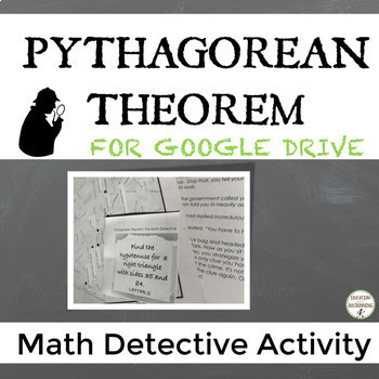 Pythagorean Theorem and Converse Math Detective Activity for Google Drive