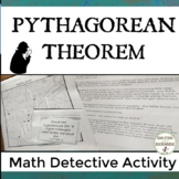 Pythagorean Theorem and Converse Math Detective Practice Activity