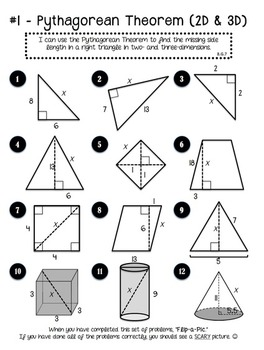 Pythagorean Theorem Stations - Flip-a-Pic Activity