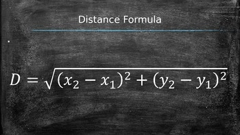 Pythagorean Theorem and Distance Formula Powerpoint
