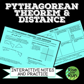 Pythagorean Theorem and Distance Formula Review and Practice