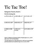 Pythagorean Theorem and Distance Formula Tic Tac Toe