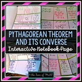 Pythagorean Theorem and Its Converse Interactive Notebook Pages