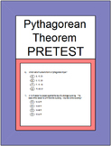 Pythagorean Theorem and Its Converse PreTest & Partner Pairs & SMART Response