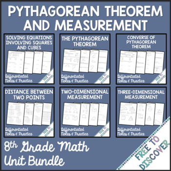 Pythagorean Theorem and Measurement - Unit 3 Bundle