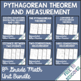 Pythagorean Theorem and Measurement Notes and Practice Bundle