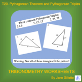 Pythagorean Theorem and Pythagorean Triples
