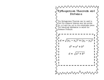 Pythagorean Theorem and The DIstance Formula