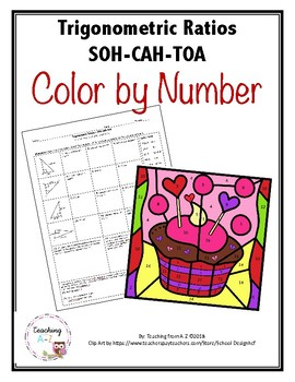 Pythagorean Theorem and Trigonometric Ratios (SOH-CAH-TOA) Color by Number