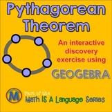 Pythagorean Theorem - interactive discovery exercise - Geogebra