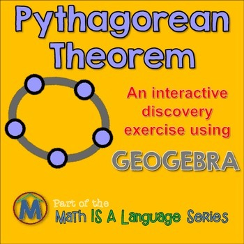 Pythagorean Theorem - interactive discovery exercise - Geogebra