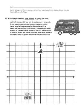 Pythagorean Theorem on the Coordinate Plane