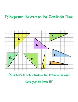 Pythagorean Theorem on the Coordinate Plane:  Can You Believe It?