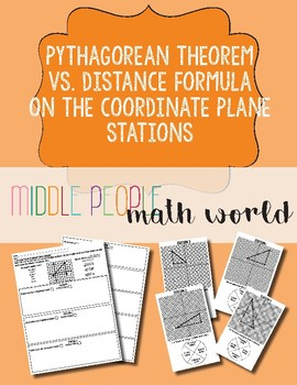 Pythagorean Theorem vs Distance Formula on the Coordinate Plane Spinner Stations