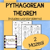Pythagorean Theorem (with word problems) Mazes!