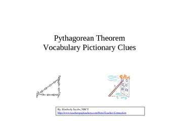 Pythagorean Theorem Vocabulary Win, Lose or Draw (Pictionary)