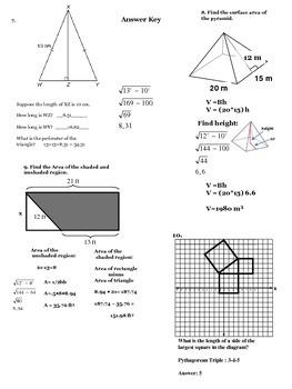 Pythagorean Thm Notes & Practice High School
