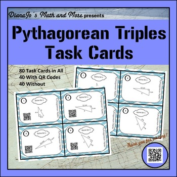 8th Grade Math Pythagorean Triples Task Cards