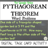 Pythagorean Word Problem Digital Task Card Activity