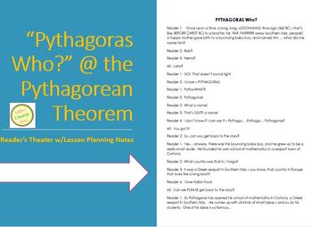 Pythagoras Who? - Reader's Theater - Common Core Aligned one day Lesson Plan