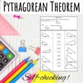 Pythagorean Theorem Worksheet Activity.