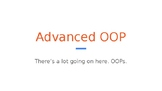 Python Code 09.5: Advanced OOP