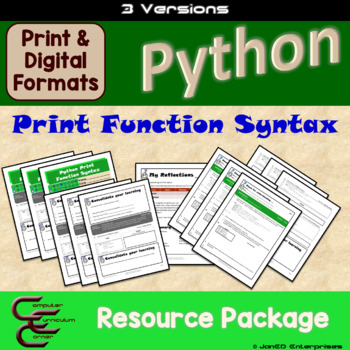Python 1 B Print Syntax 3 Version Package