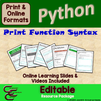 Python 1 B Print Syntax Package