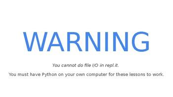Python Code 10: File I/O