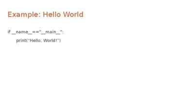Python Code 11: Main Lesson