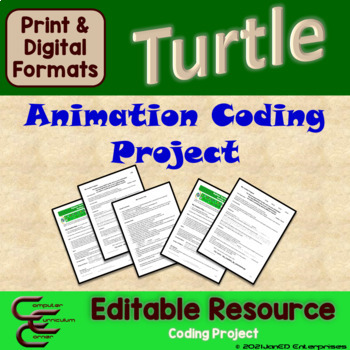 Python 3 B Turtle Animation Culminating Activity Package