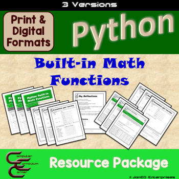 Python 5 B Built-in Math Functions 3 Version Package