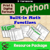 Python 5B Built-in Math Functions 3 Version Resource Package