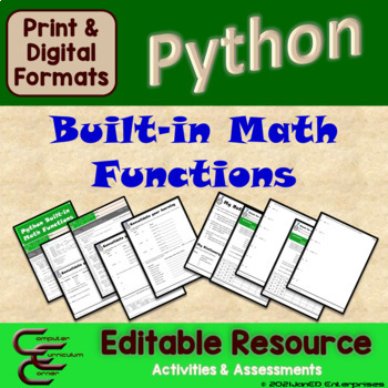 Python 5 B Built-in Math Functions Package