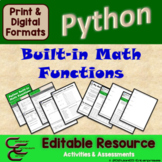 Python 5B Built-in Math Functions Resource Package ⇨EDITABLE⇦