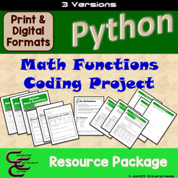 Python 5 C Math Functions Culminating Activity 3 Version Package