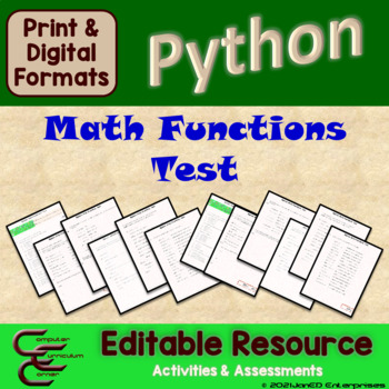 Python 5 D Math Functions Test Package