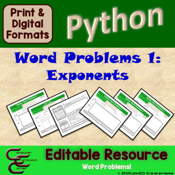 Python 6 B Exponent Problems Package