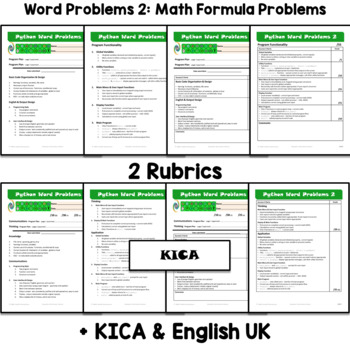 Python Word Problems 2: Math Problems ⇨EDITABLE⇦ Resource Package
