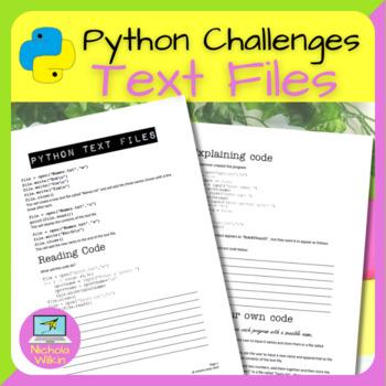 Python External Text Files Practical Challenges