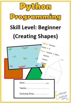 Python Programming Coding Booklet - Creating Shapes (Work Book 2)