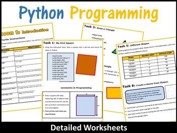 Python Programming Coding (Making Shapes) – Introduction to Python