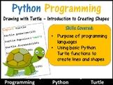 Python Coding (Making Shapes) – Introduction to Python (Skill Level: Beginner)