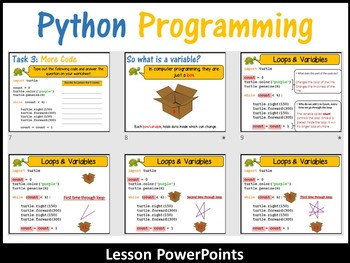 Python Programming Coding (Making Shapes) – Introduction to Loops
