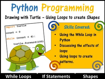 Python Programming Coding (Creating Shapes) Lesson 2 – Int