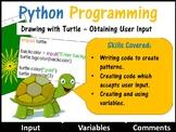 Python Coding (Making Shapes) – Getting User Input (Skill Level: Beginner)